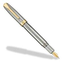 True Writer Two-Tone Herringbone Anniversary Fountain Pen