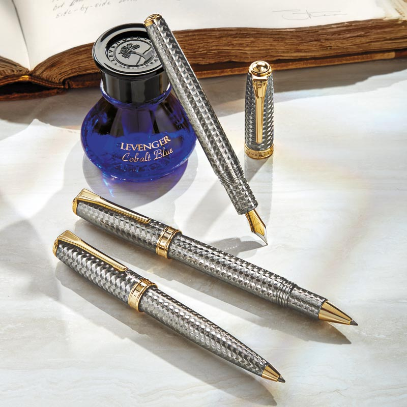 True Writer Two-Tone Herringbone Anniversary Pen Collection