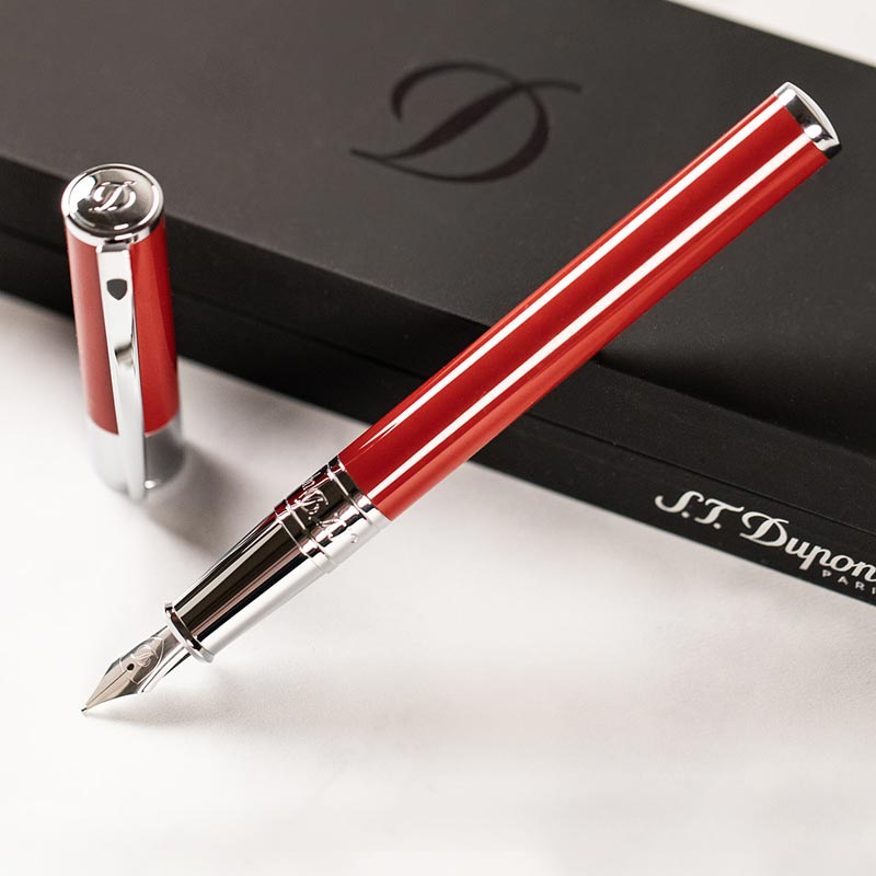 S.T. Dupont D-Initial Fountain Pen - Red