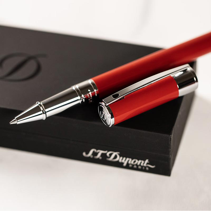 S.T. Dupont D-Initial Rollerball - Red