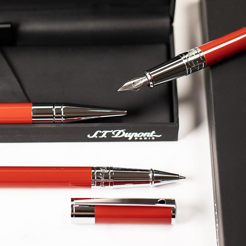 S.T. Dupont D-Initial Ballpoint - Red