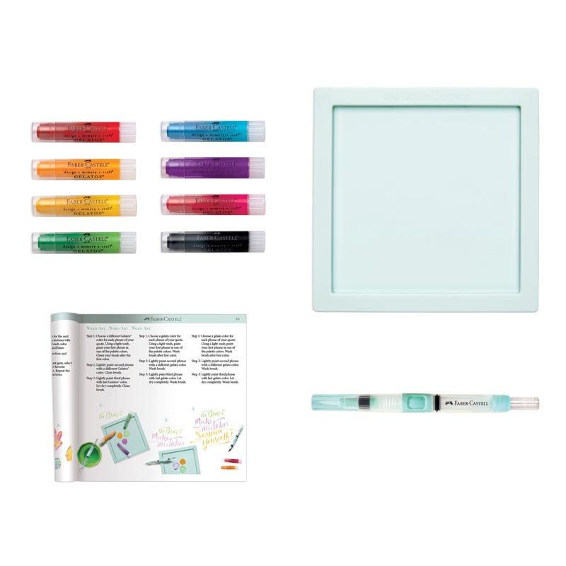 Faber-Castell Intro to Watercolor with Gelatos Art Set