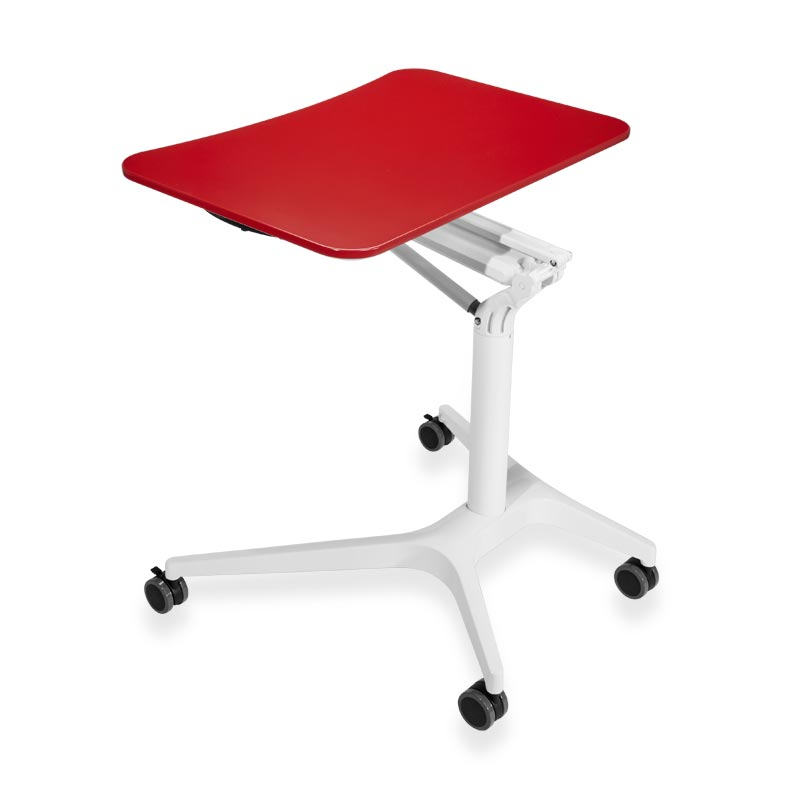 Sit-to-Stand Rolling Workstation 2.0 -  Top Red Base White