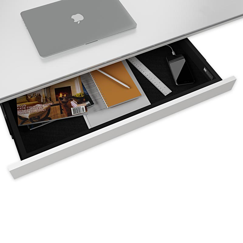 Centro Storage Drawer for Large Lift Desk - White