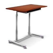 Height Adjustable Laptop Desk Cherry