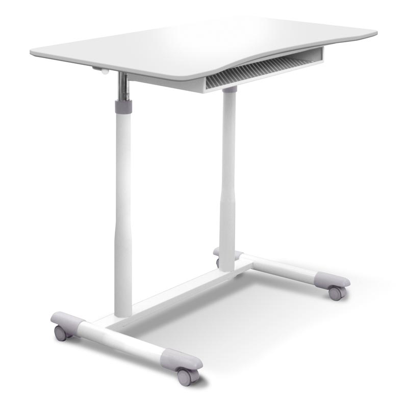 Height Adjustable Laptop Desk White
