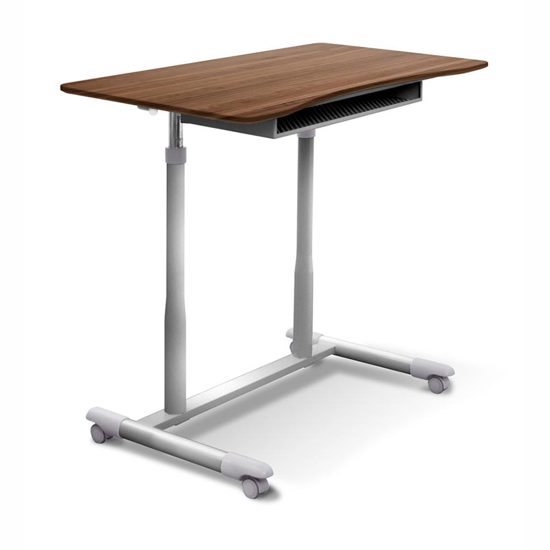 Height Adjustable Laptop Desk Walnut