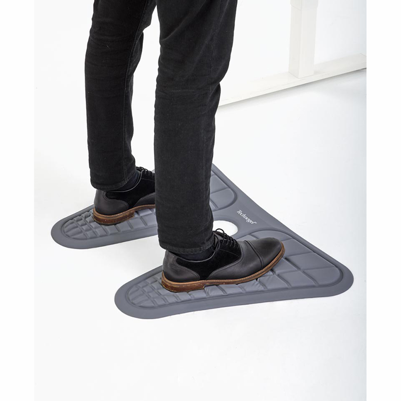 Ergonomic Sit-to-Stand Mat Grey