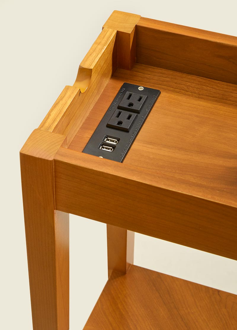 Tech Enhanced No Room for Table - Natural Cherry