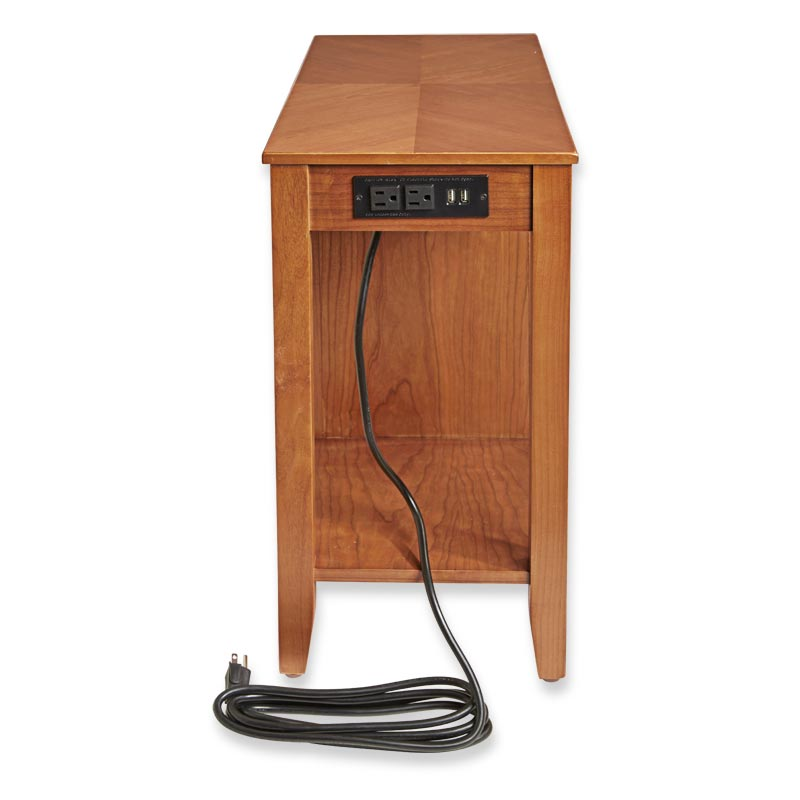 Tech Enhanced No-Room-for-a-Table™ Table with Drawers, Natural Cherry