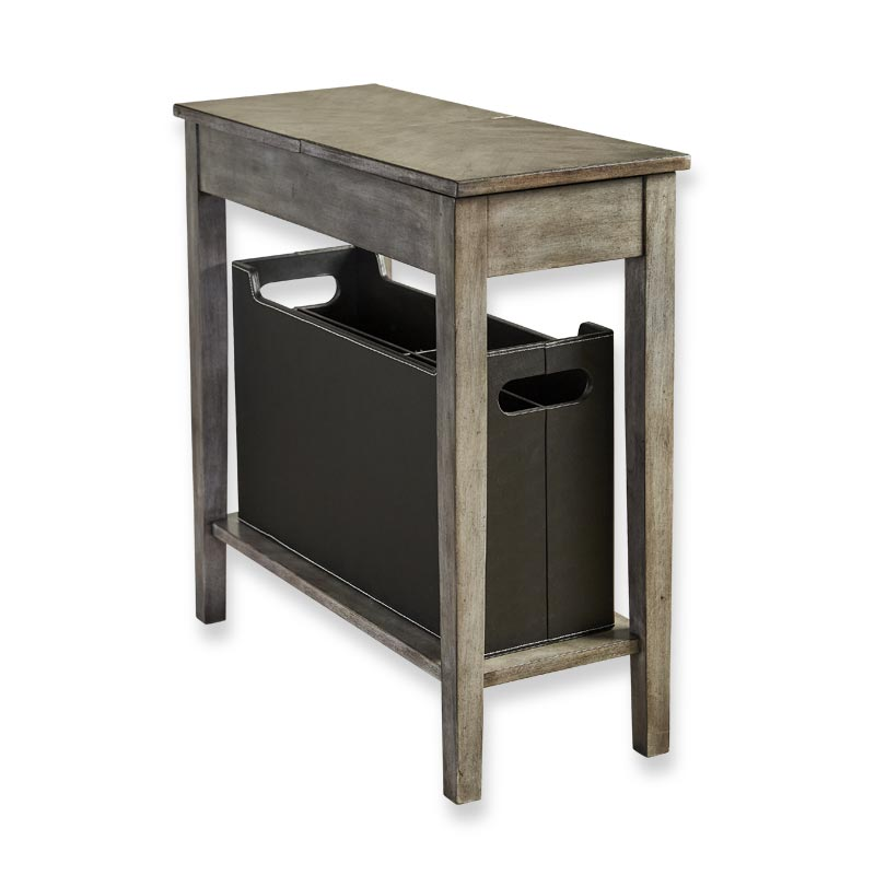 No-Room-for-a-Table™ Table with Basket Grey