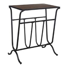 Magazine Rack Accent Table