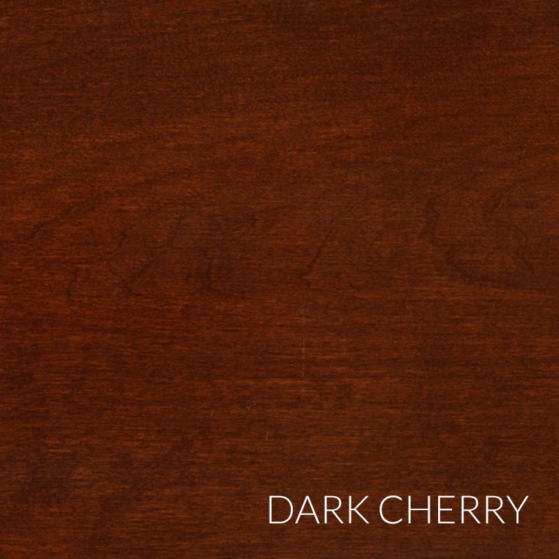 Barrister Hinged Double Door Section - Dark Cherry