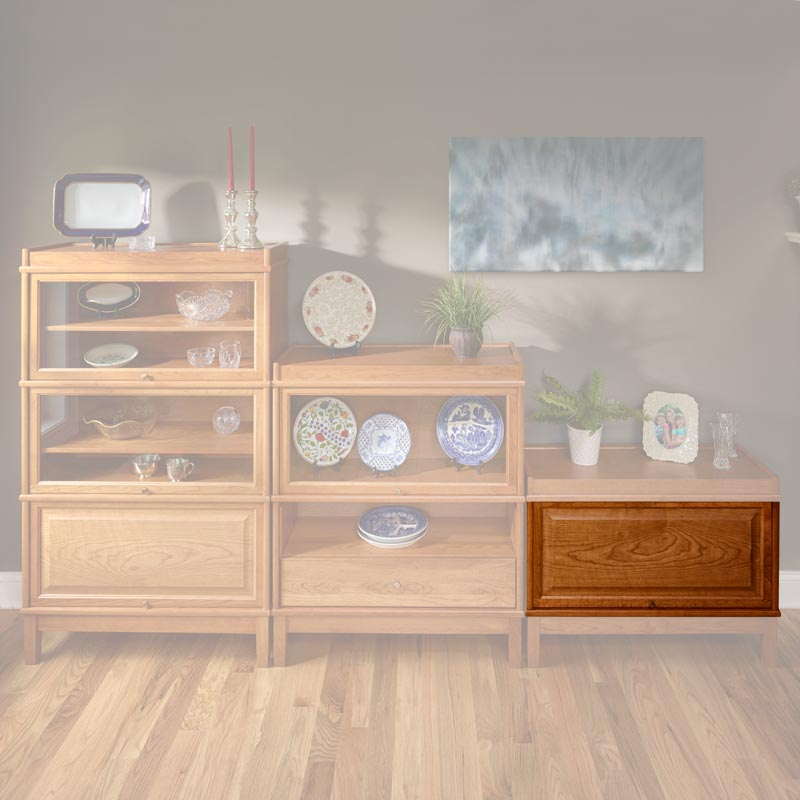Barrister Solid Door Section - Natural Cherry