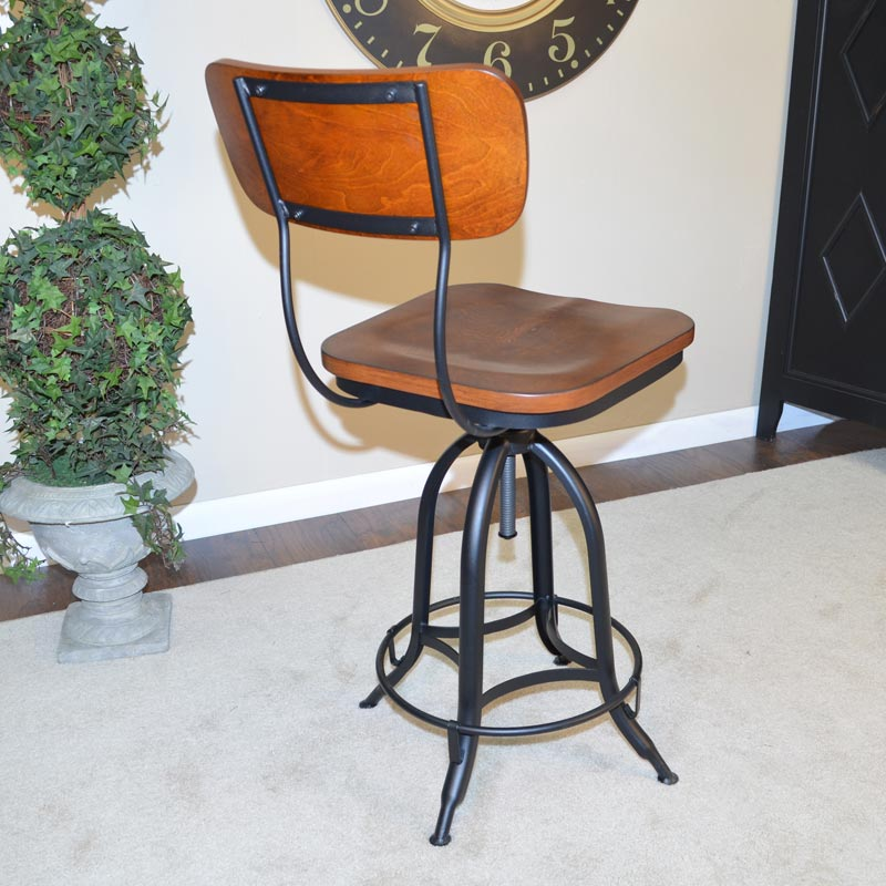 Industrial Adjustable Barstool