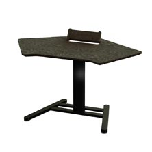 Executive Electric Corner Desk with Holder