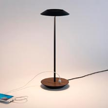 Royyo LED Desk Lamp Matte Black Walnut