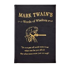 Mark Twain's Words of Wisdom Book