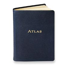 Leather Traveler's Atlas