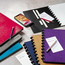 Circa® Smooth Sliver Notebook with Pockets
