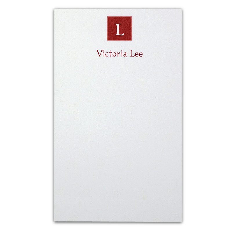 Insignia™ Personalized 3x5 Cards (set of 250), Burgundy