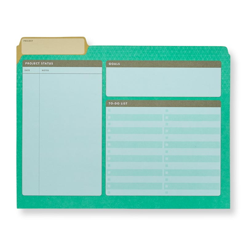 Project File Folders (set of 6)