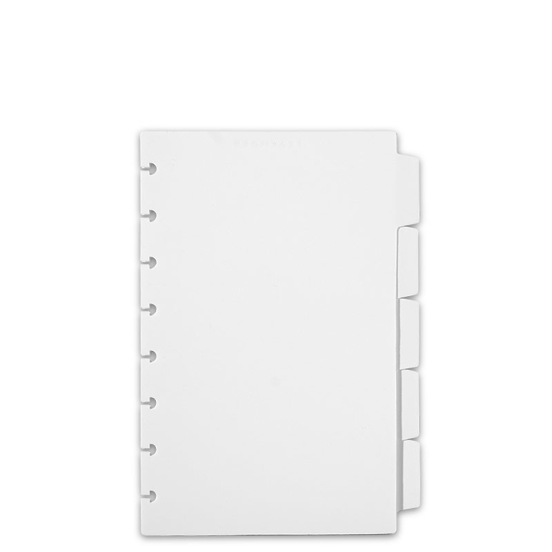 Circa Plastic 5 Tab Dividers, White, Junior