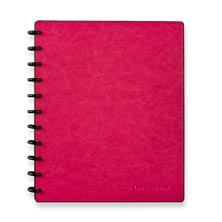Circa Smooth Sliver Notebook with Pockets-Strawberry