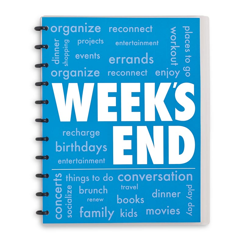 Circa Week's End Notebook, Vertical Letter