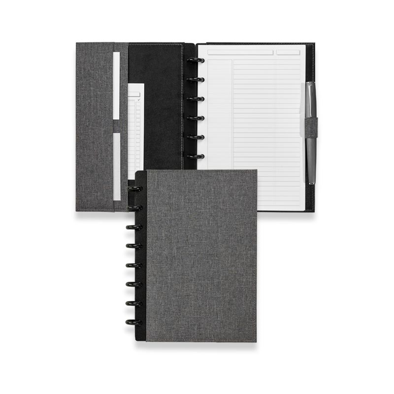 Circa Bookcloth Foldover Notebook, Gray, Junior