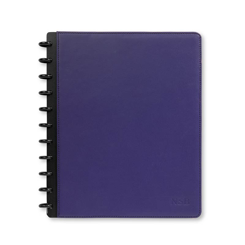 Circa Leather Foldover Notebook, Purple