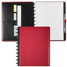 Circa Leather Foldover Notebook, Red