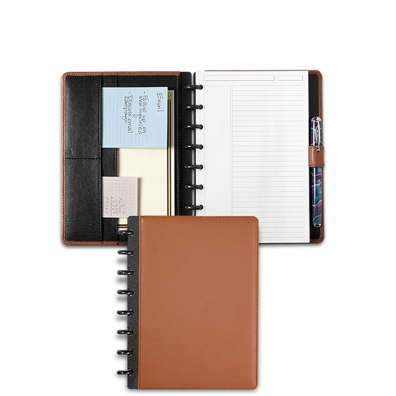 Circa Leather Foldover Notebook, Saddle, Junior