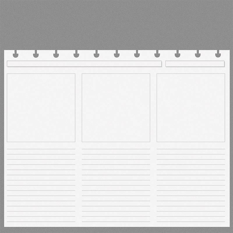 Special Request™ Circa Horizontal Storyboard Refill, Letter