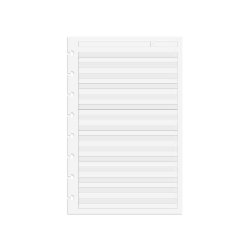 Circa TASK Refill Sheets, Dual Rule Junior