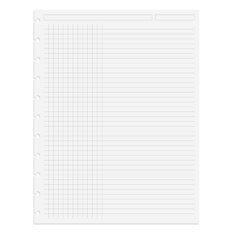 Circa TASK Refill Sheets, Grid/Rule Letter