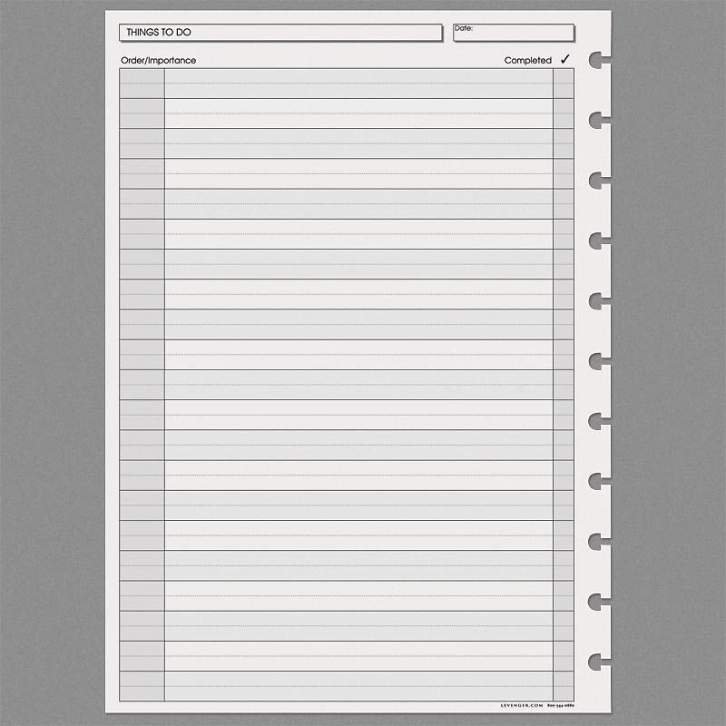 Special Request™ Things to Do (100 sheets), Circa A4