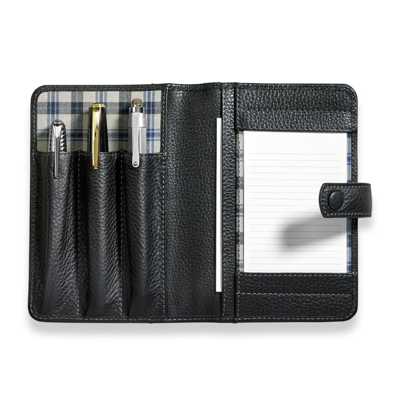 Bomber Jacket Triple Pen Case - Black