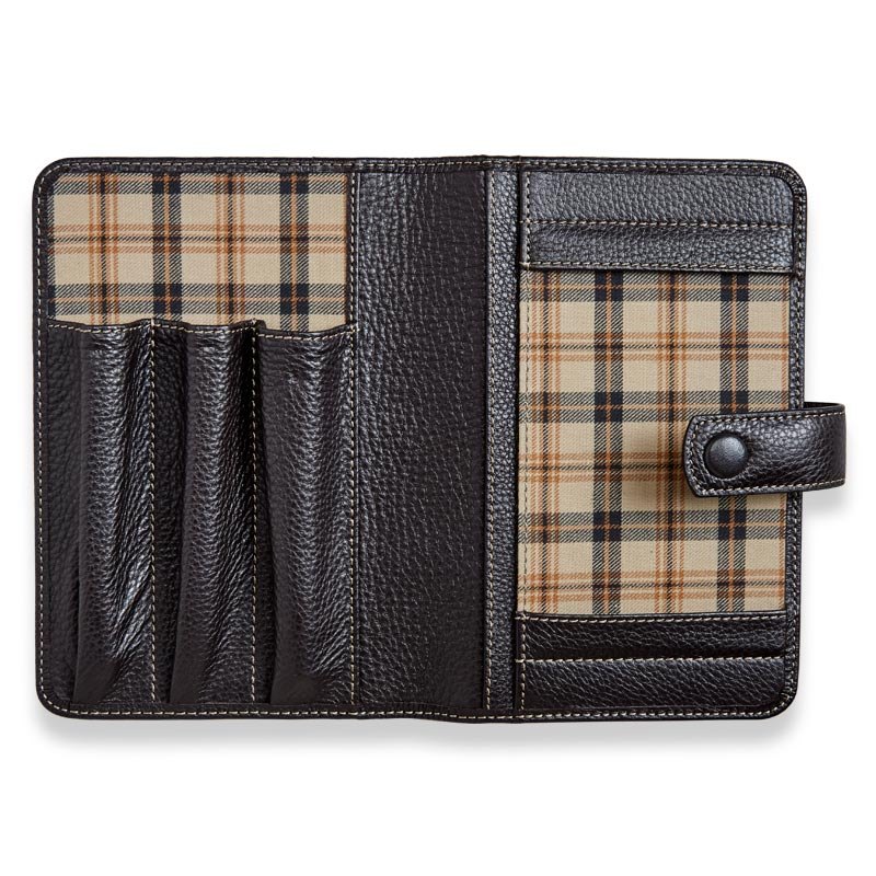 Bomber Jacket Triple Pen Case - Mocha
