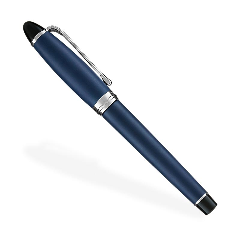 Aurora Ipsilon Satin Fountain Pen, F - Blue