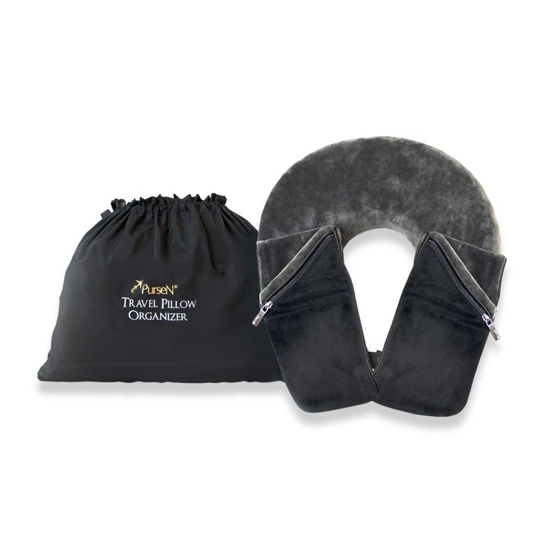Travel Pillow Organizer - Grey/Black
