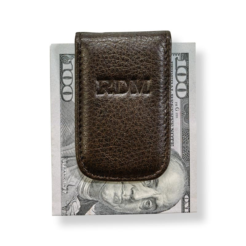 Magnetic Money Clip, Mocha