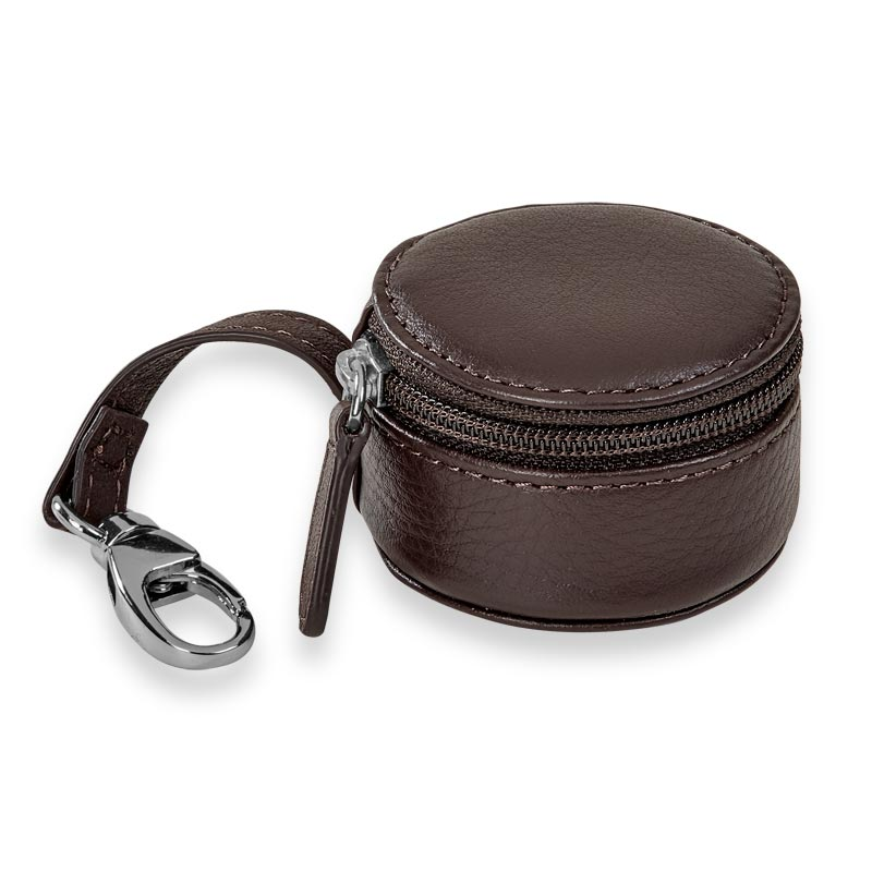 Zip-N-Store Earbud Holder - Dark Brown