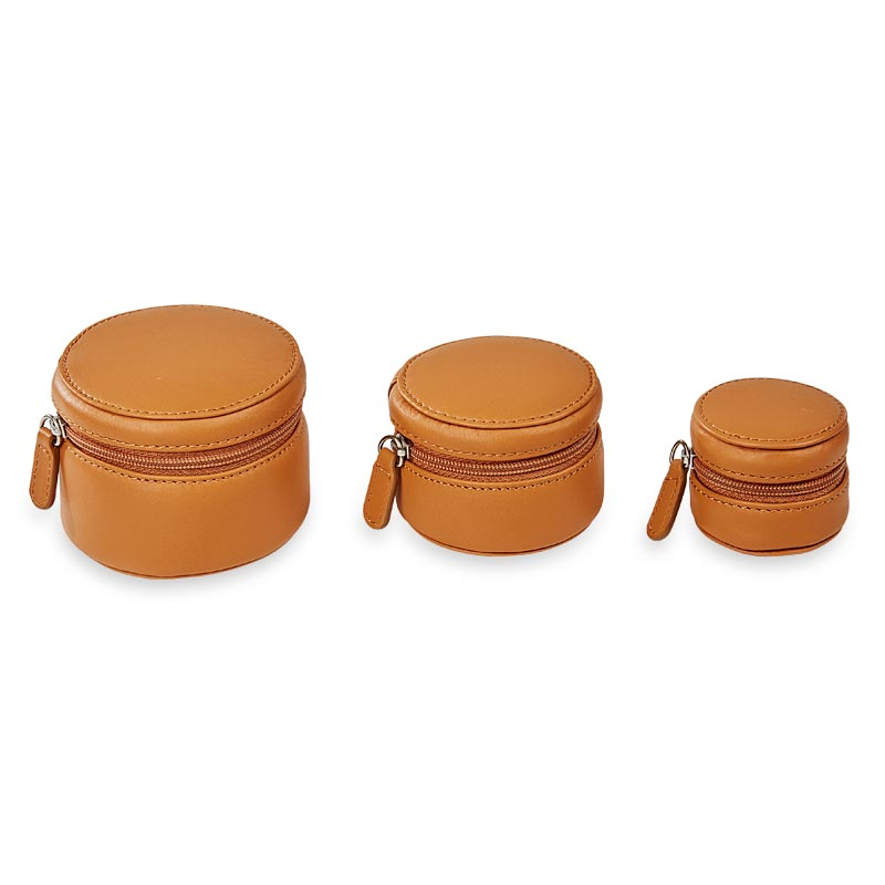 Zip-N-Store Travel Cases (set of 3) - Saddle