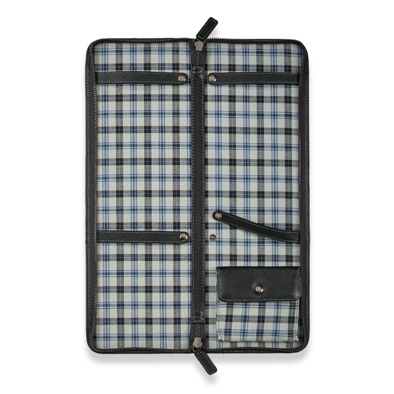Bomber Jacket Tie Case - Black