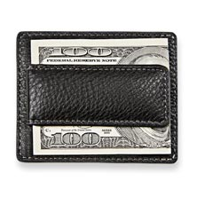 Bomber Jacket Money Clip Card Case - Black
