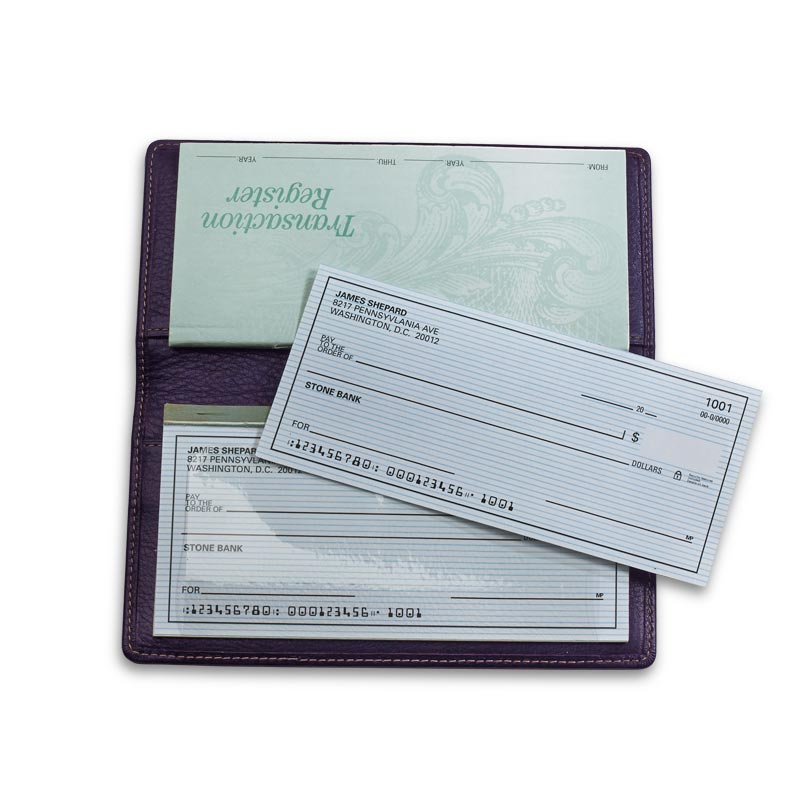 Pennington Checkbook Cover, Grape