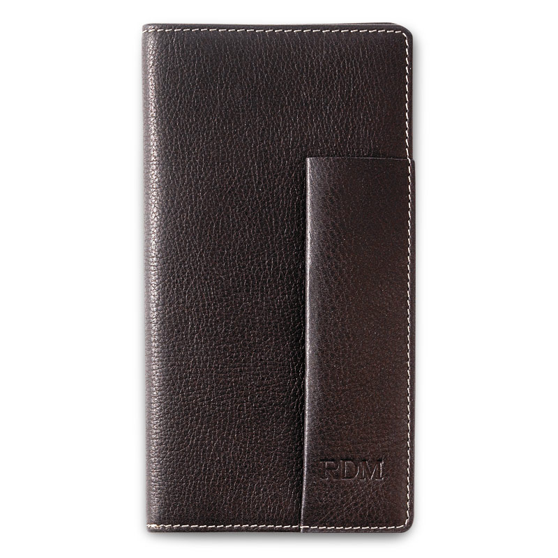 Pennington Checkbook Cover, Dark Brown