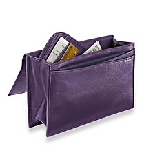 RFID Travel Wallet & Passcase, Grape