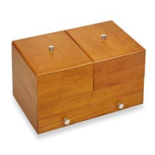 Cubi Stackable Keepsake Box - Natural Cherry
